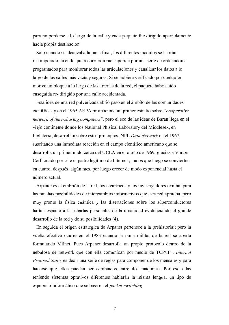 Anteprima della tesi: Internet: las nuevas fronteras de la comunicaciòn, Pagina 5