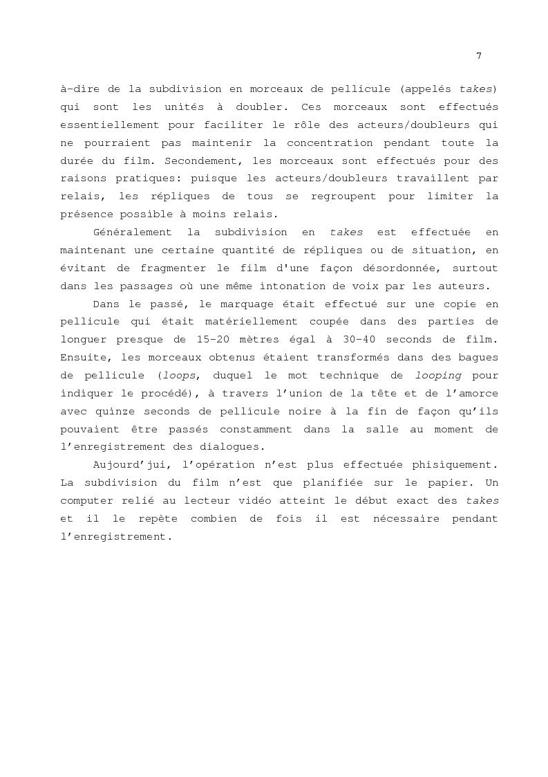 Anteprima della tesi: Le problème de la traduction dans le doublage cinématographique en Italie, Pagina 11