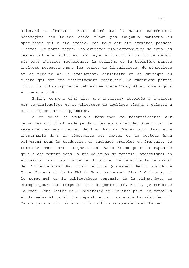 Anteprima della tesi: Le problème de la traduction dans le doublage cinématographique en Italie, Pagina 4