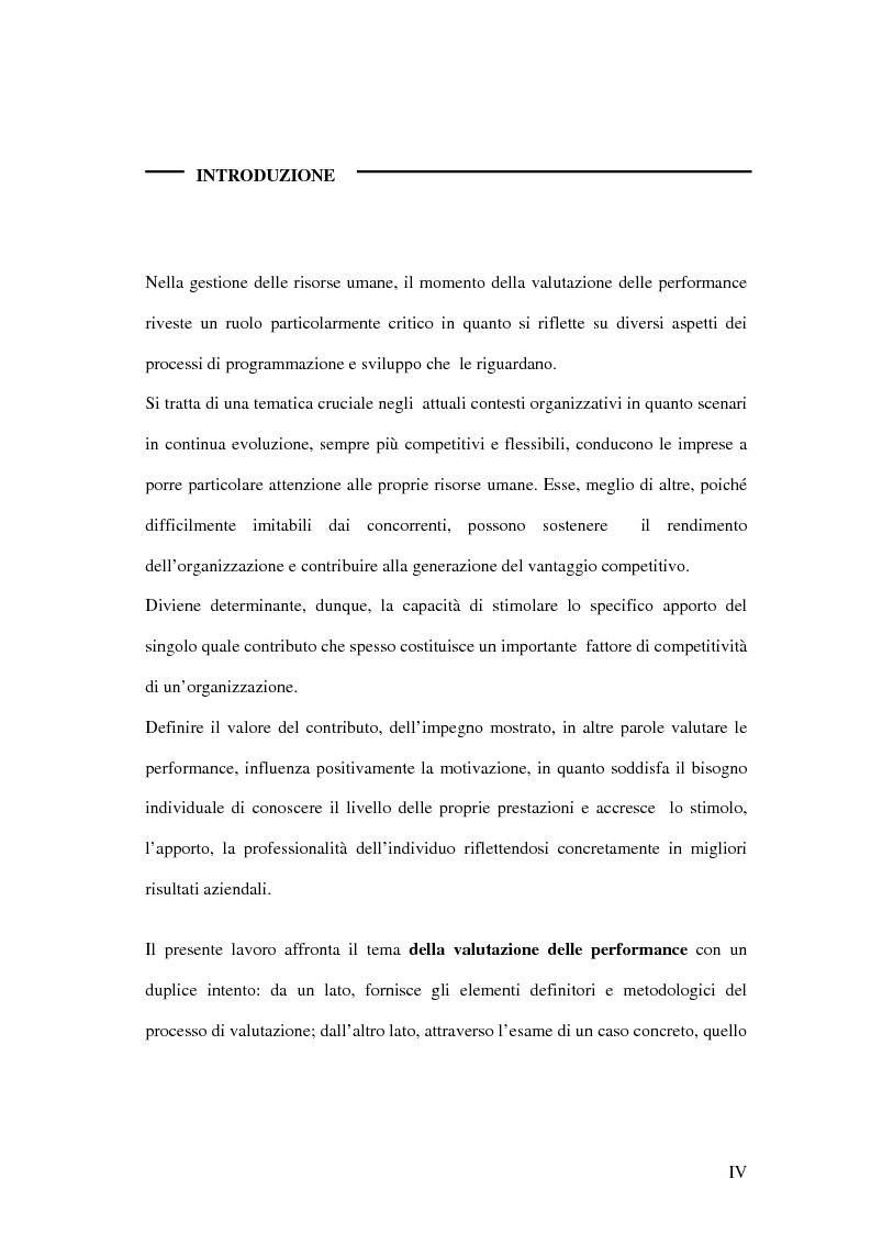 Anteprima della tesi: La valutazione delle performance delle risorse umane: il caso Indesit Company, Pagina 1
