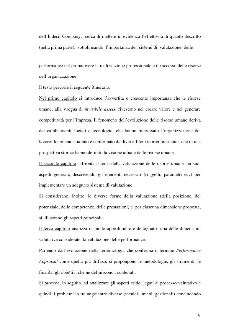 Anteprima della tesi: La valutazione delle performance delle risorse umane: il caso Indesit Company, Pagina 2