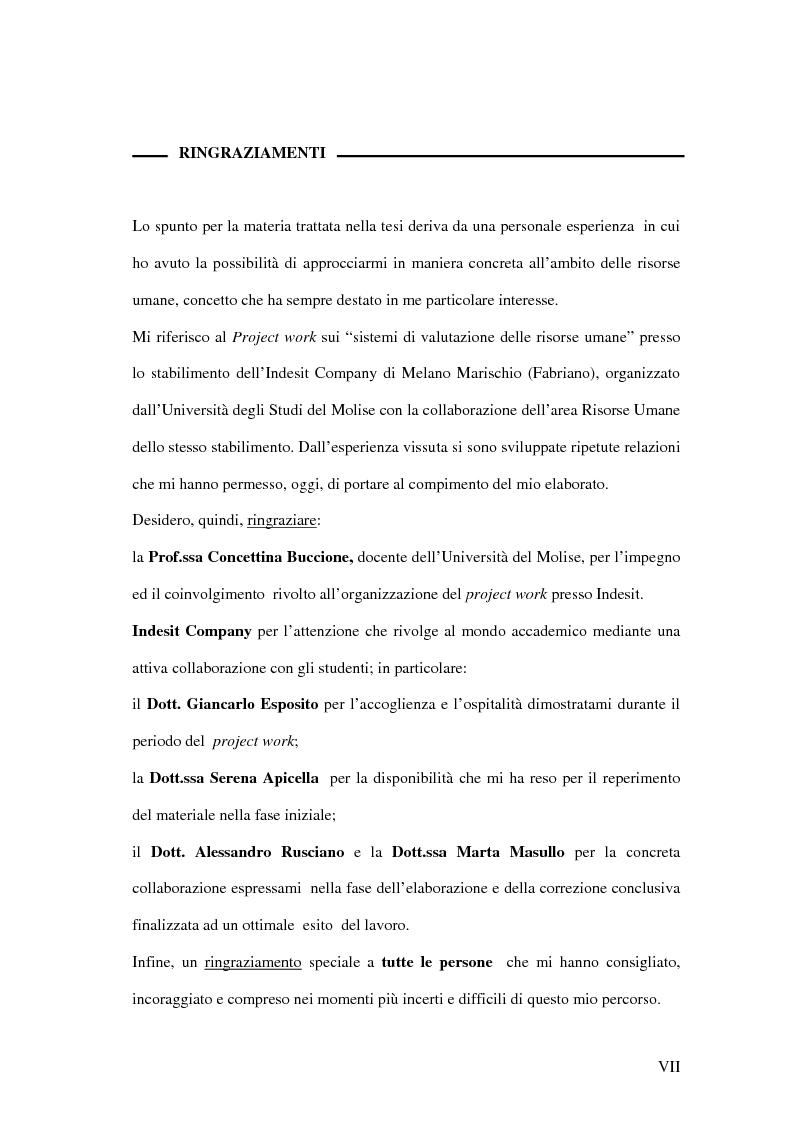 Anteprima della tesi: La valutazione delle performance delle risorse umane: il caso Indesit Company, Pagina 4