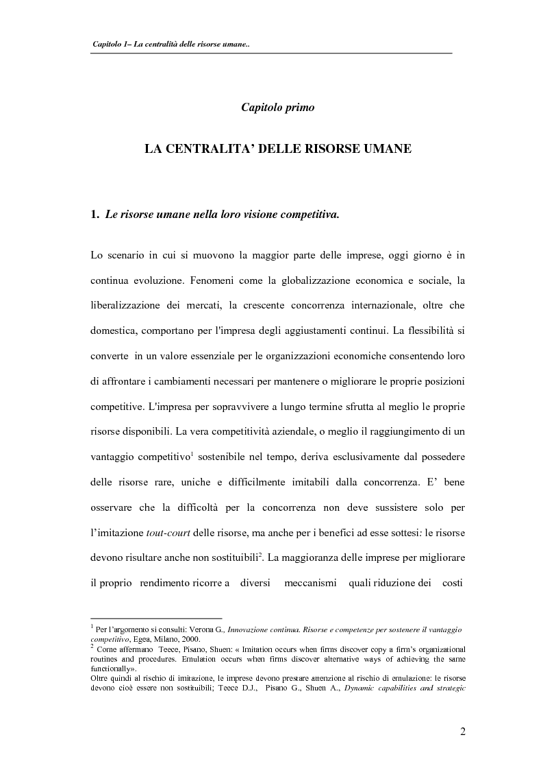 Anteprima della tesi: La valutazione delle performance delle risorse umane: il caso Indesit Company, Pagina 5