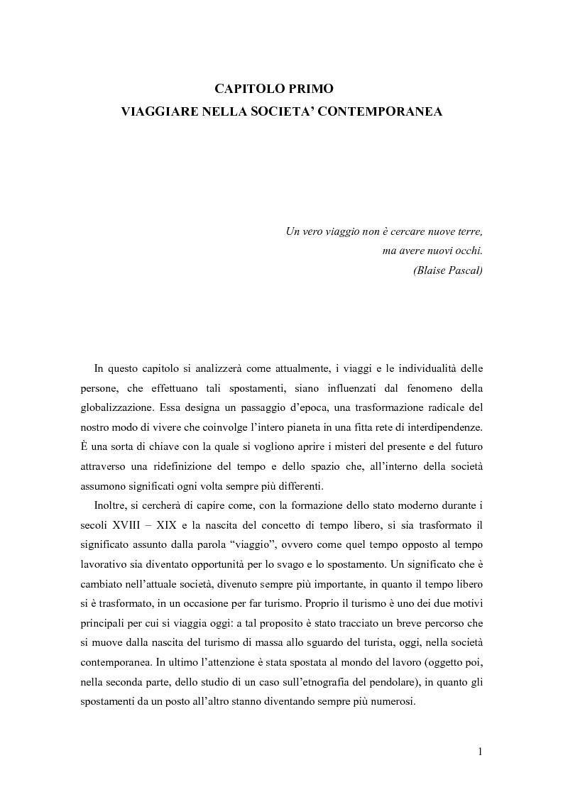 Anteprima della tesi: L'arte del viaggiare: l'etnografia del pendolare, Pagina 4