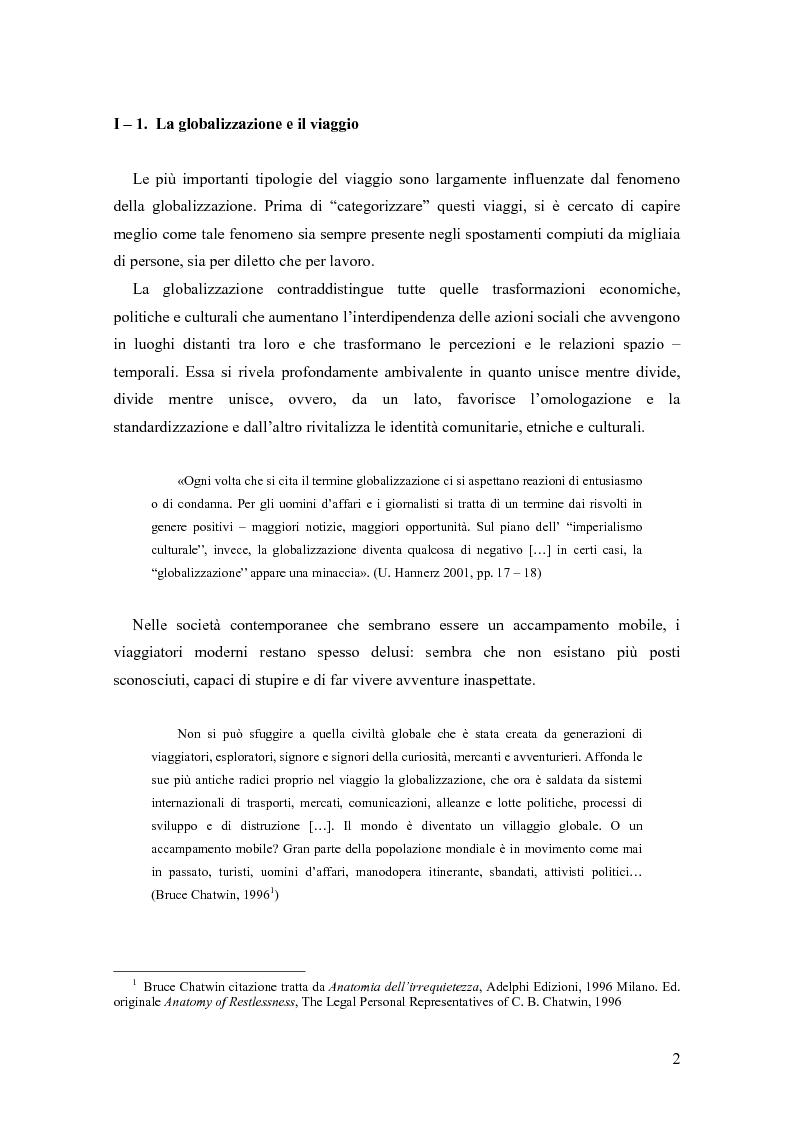 Anteprima della tesi: L'arte del viaggiare: l'etnografia del pendolare, Pagina 5