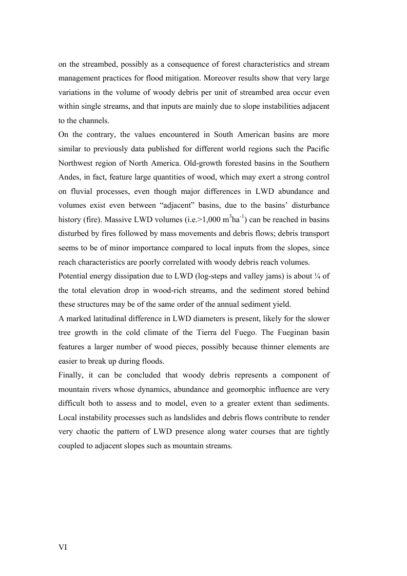 Anteprima della tesi: Volume and Characteristics of Woody Debris in Mountain Rivers of Italian Dolomites and Southern Andes, Pagina 2