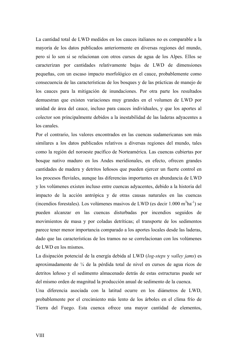 Anteprima della tesi: Volume and Characteristics of Woody Debris in Mountain Rivers of Italian Dolomites and Southern Andes, Pagina 4