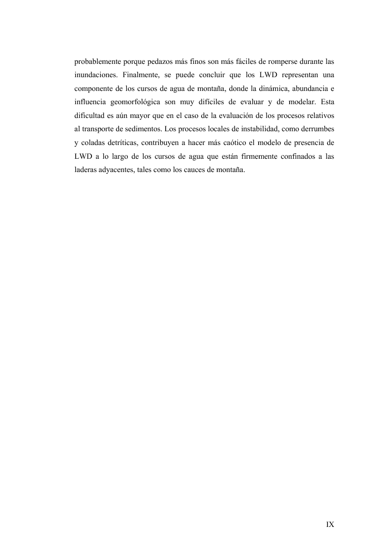 Anteprima della tesi: Volume and Characteristics of Woody Debris in Mountain Rivers of Italian Dolomites and Southern Andes, Pagina 5