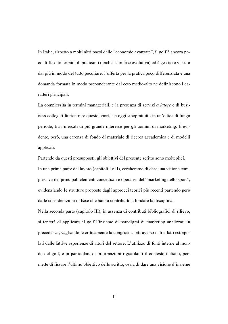 Anteprima della tesi: Il marketing dello sport: il caso del golf, Pagina 2