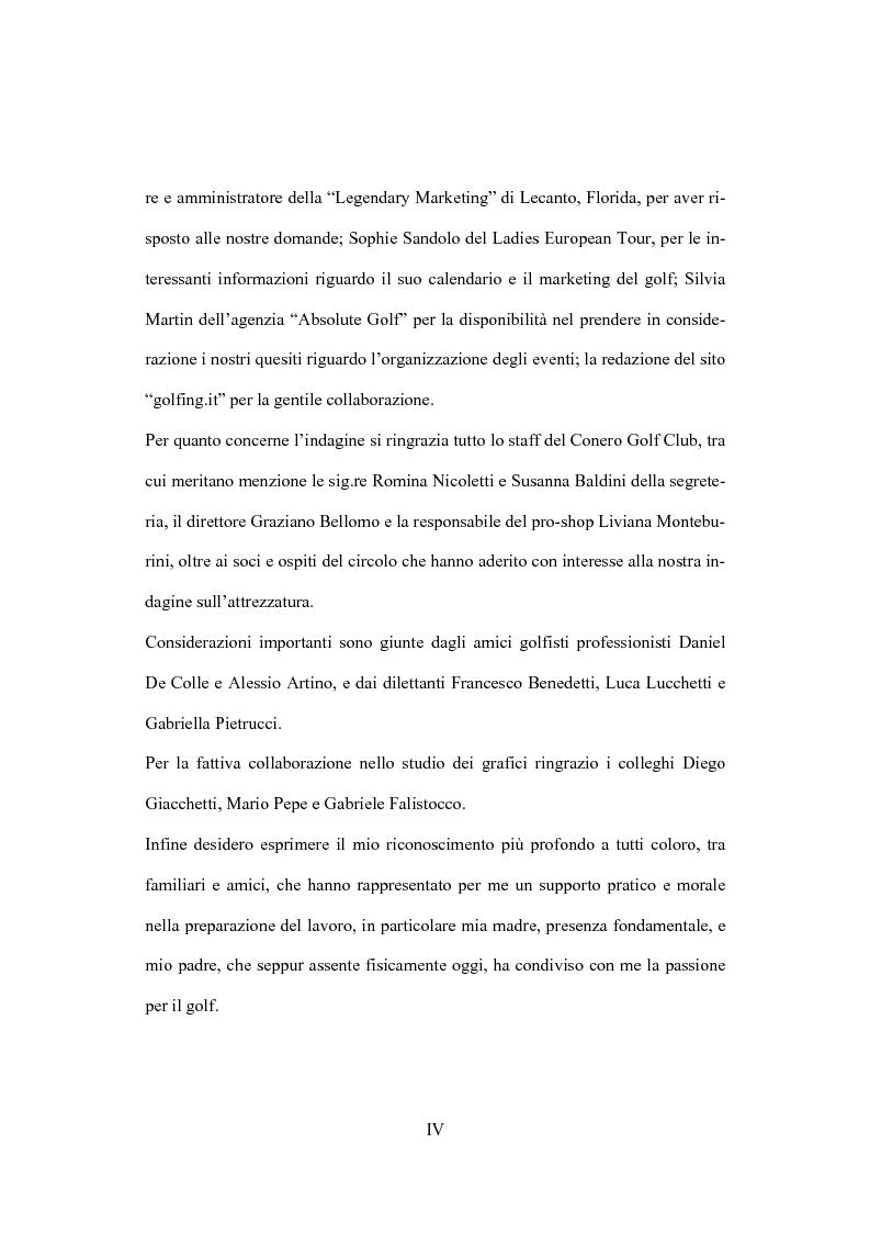 Anteprima della tesi: Il marketing dello sport: il caso del golf, Pagina 4