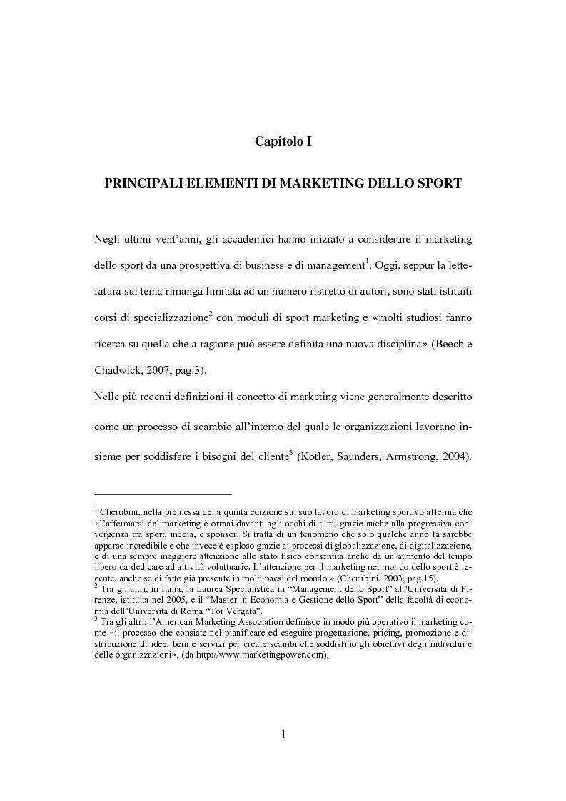 Anteprima della tesi: Il marketing dello sport: il caso del golf, Pagina 5