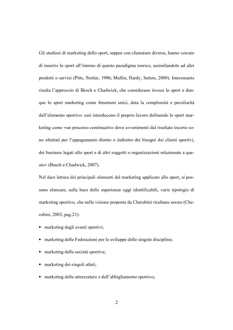 Anteprima della tesi: Il marketing dello sport: il caso del golf, Pagina 6