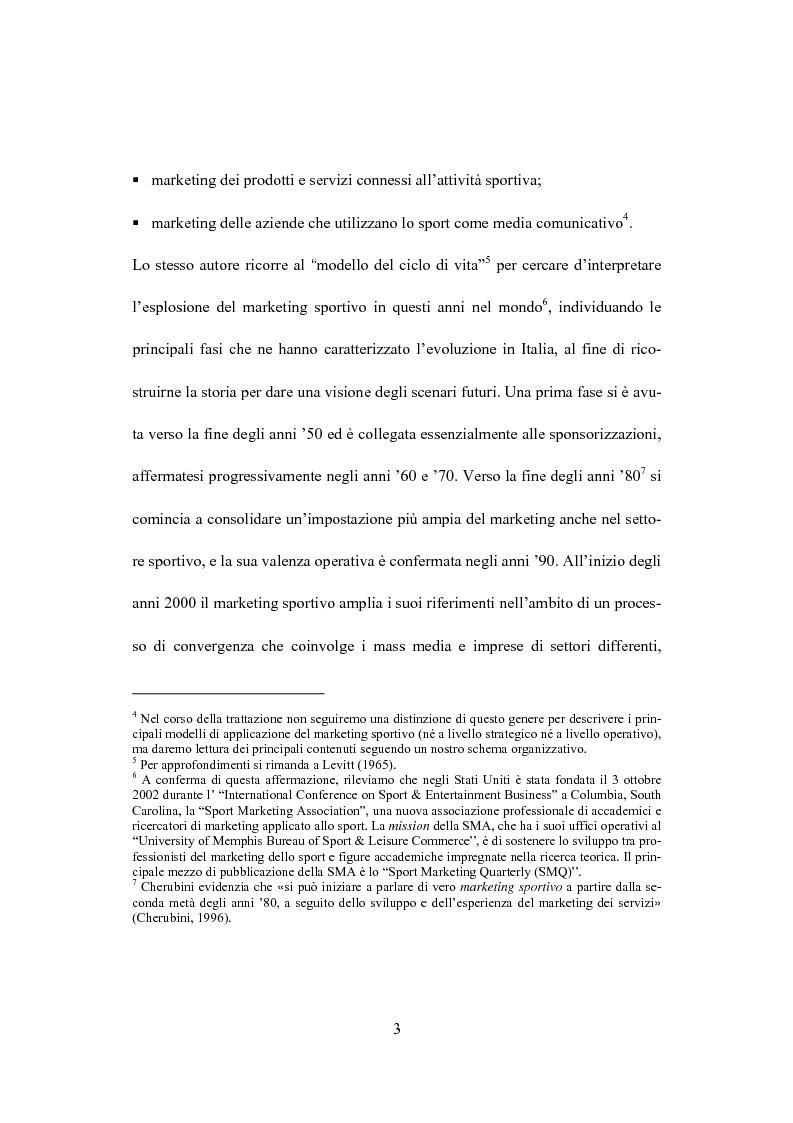 Anteprima della tesi: Il marketing dello sport: il caso del golf, Pagina 7