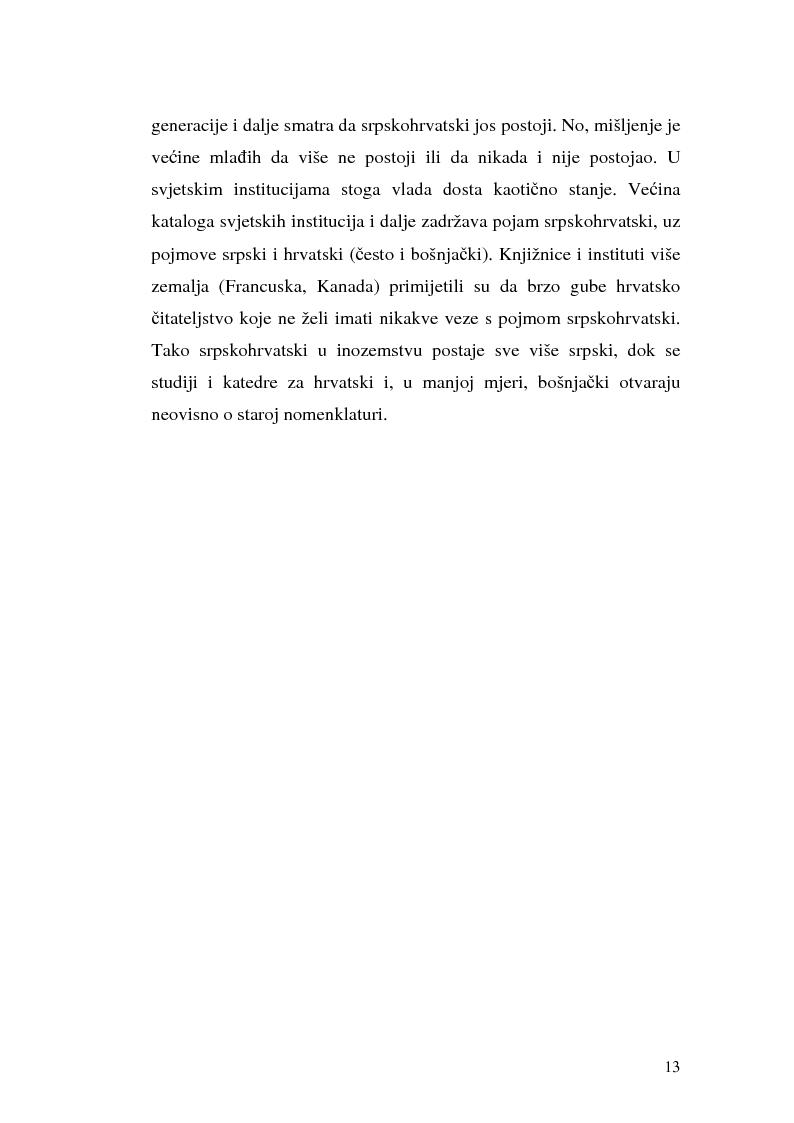 Anteprima della tesi: Il processo di standardizzazione del croato, Pagina 10