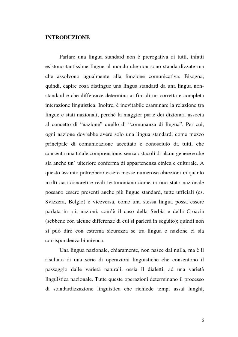 Anteprima della tesi: Il processo di standardizzazione del croato, Pagina 3