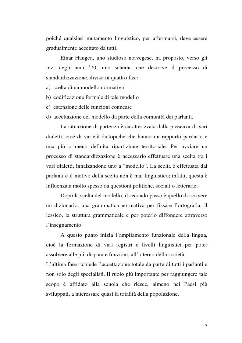 Anteprima della tesi: Il processo di standardizzazione del croato, Pagina 4