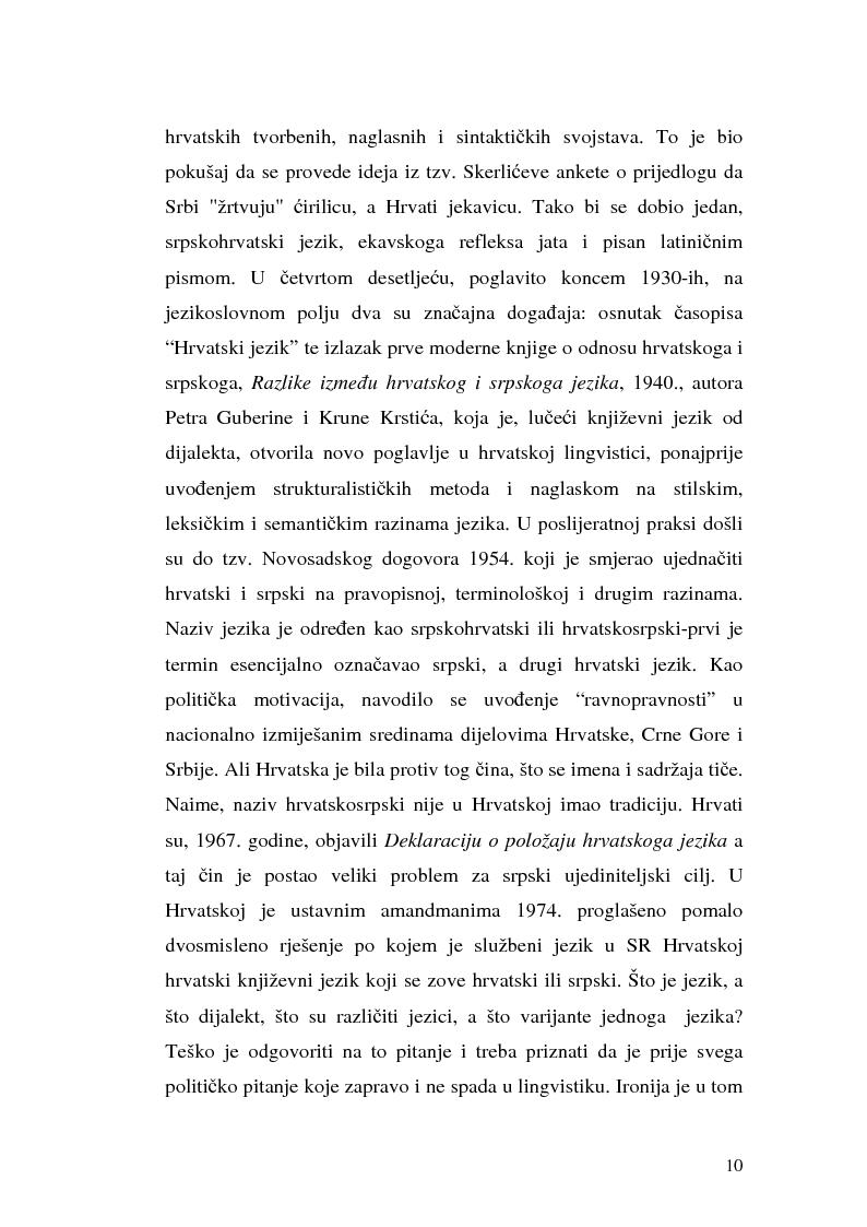 Anteprima della tesi: Il processo di standardizzazione del croato, Pagina 7