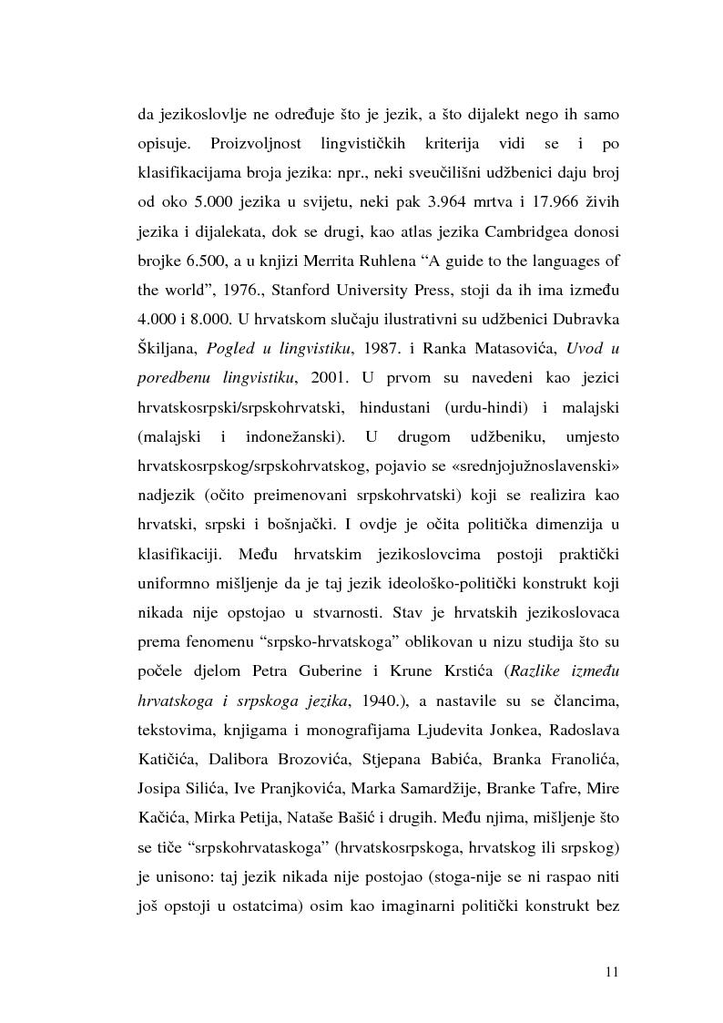 Anteprima della tesi: Il processo di standardizzazione del croato, Pagina 8