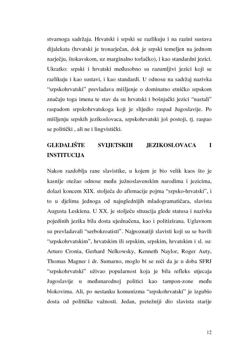 Anteprima della tesi: Il processo di standardizzazione del croato, Pagina 9