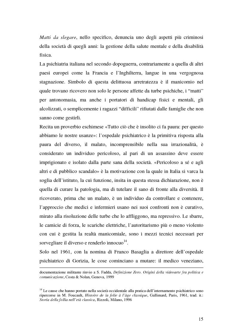 Anteprima della tesi: Oltre il dolore, oltre la pena. Cinema e handicap, quattro diversi sguardi d'autore, Pagina 12