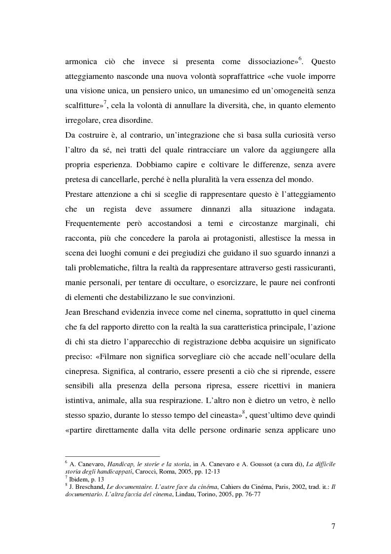 Anteprima della tesi: Oltre il dolore, oltre la pena. Cinema e handicap, quattro diversi sguardi d'autore, Pagina 4
