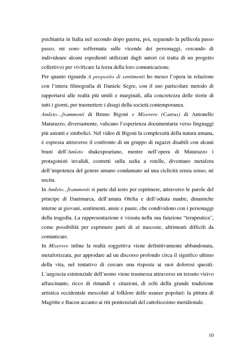 Anteprima della tesi: Oltre il dolore, oltre la pena. Cinema e handicap, quattro diversi sguardi d'autore, Pagina 7