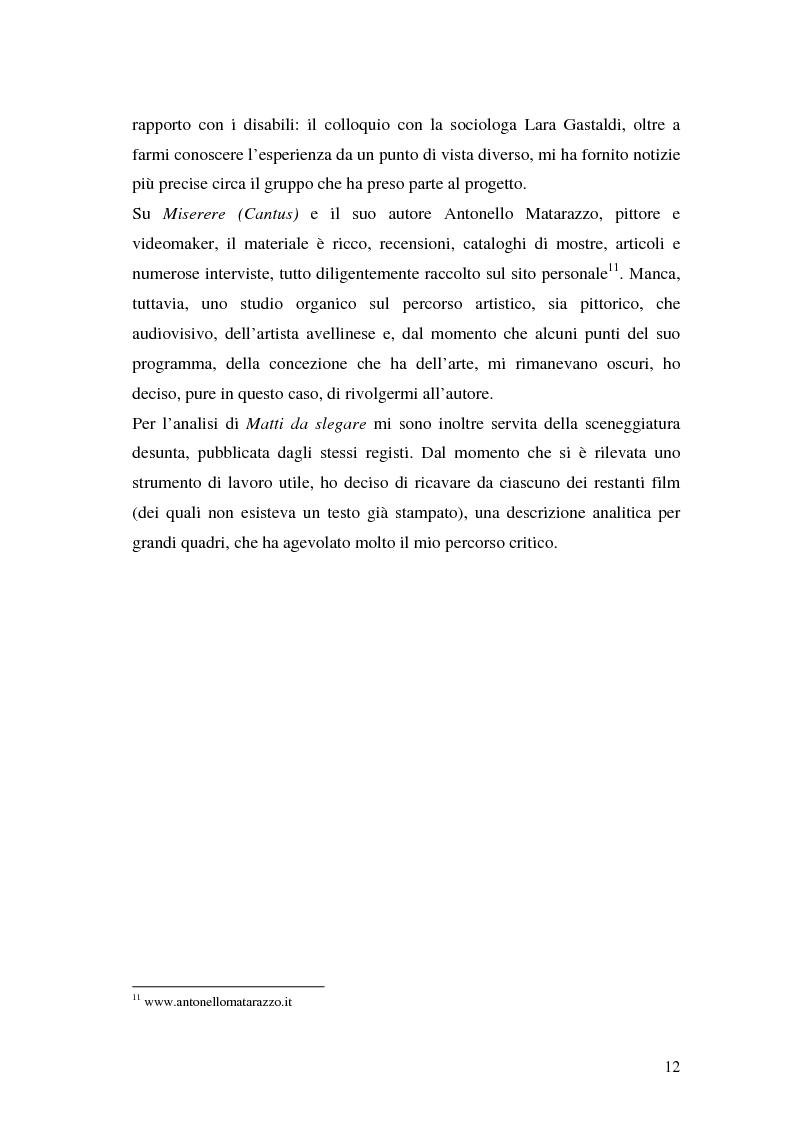 Anteprima della tesi: Oltre il dolore, oltre la pena. Cinema e handicap, quattro diversi sguardi d'autore, Pagina 9