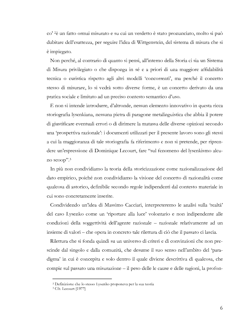 Anteprima della tesi: L'ideologia nella scienza: il caso Lysenko, Pagina 3