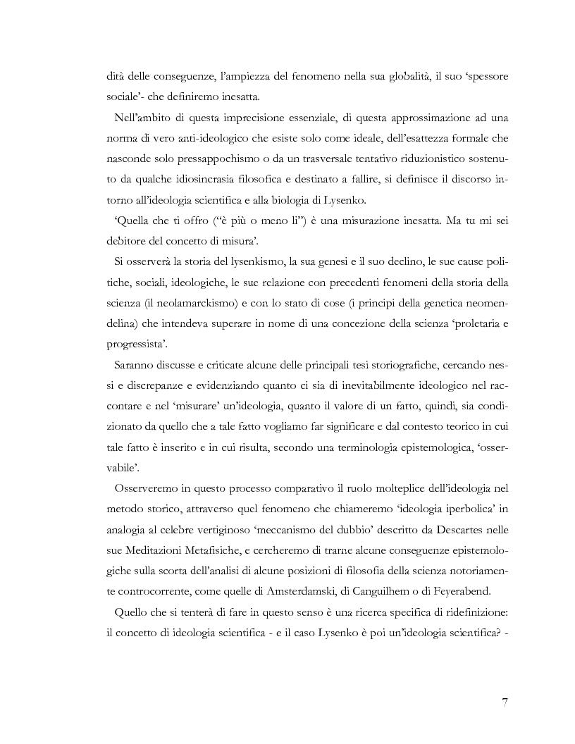 Anteprima della tesi: L'ideologia nella scienza: il caso Lysenko, Pagina 4