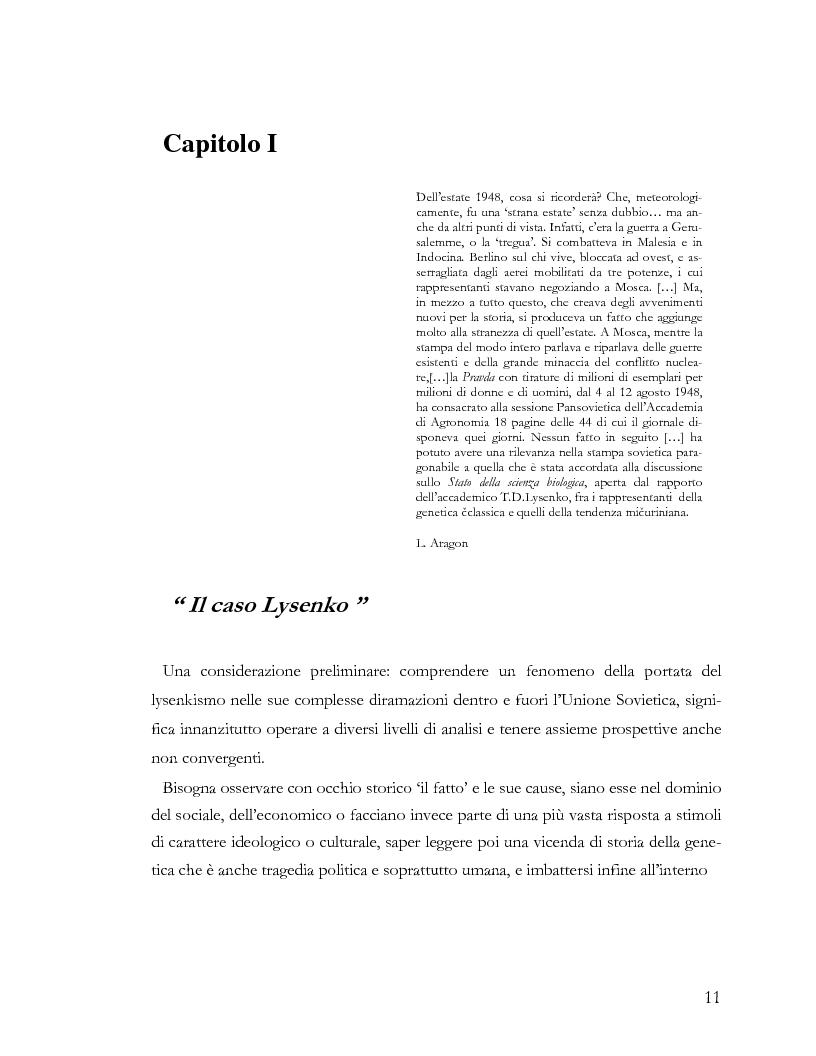 Anteprima della tesi: L'ideologia nella scienza: il caso Lysenko, Pagina 8