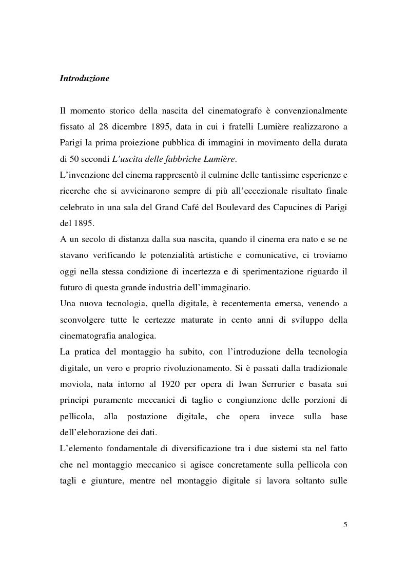 Anteprima della tesi: Montaggio e narrazione in Memento di Christopher Nolan e 21 Grammi di Alejando Gonzàlez Inarritu, Pagina 1