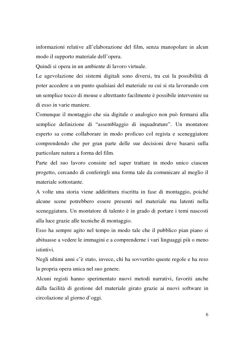 Anteprima della tesi: Montaggio e narrazione in Memento di Christopher Nolan e 21 Grammi di Alejando Gonzàlez Inarritu, Pagina 2