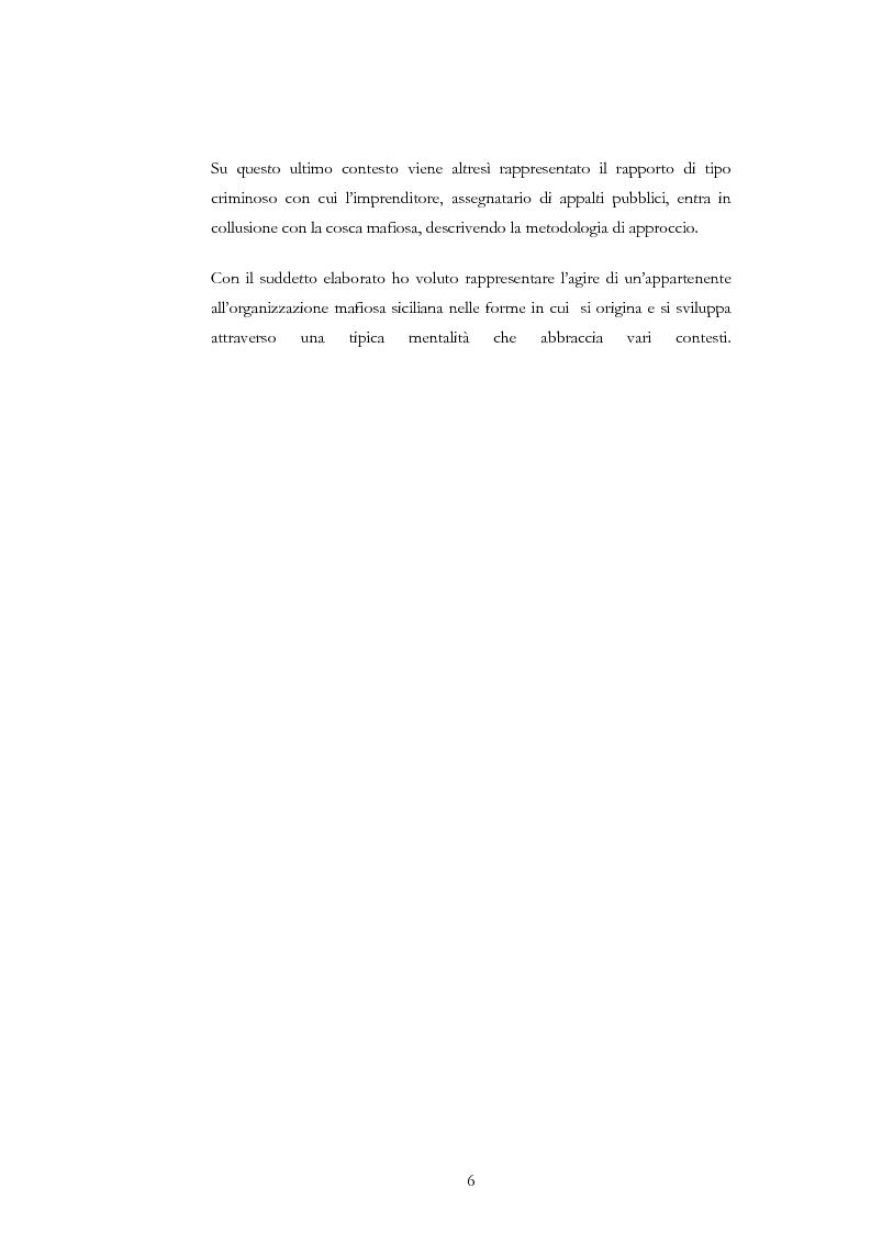 Anteprima della tesi: La condotta mafiosa in un contesto criminale, Pagina 3