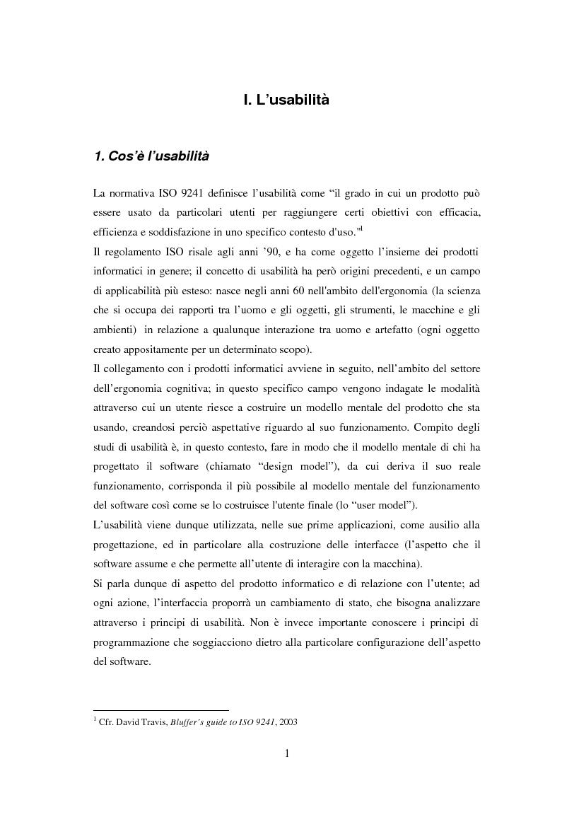 Anteprima della tesi: L'usabilità in Internet e i processi psicologici correlati, Pagina 3
