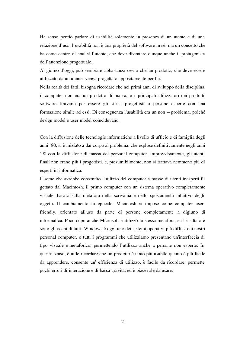 Anteprima della tesi: L'usabilità in Internet e i processi psicologici correlati, Pagina 4