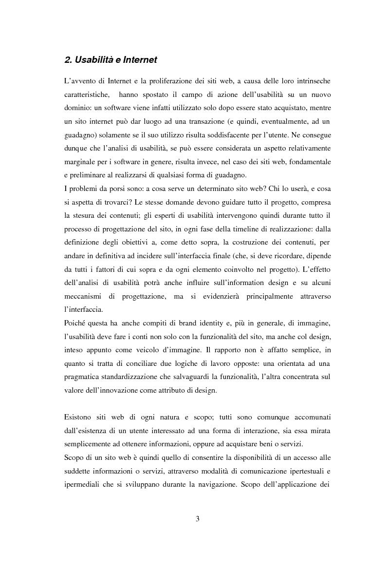 Anteprima della tesi: L'usabilità in Internet e i processi psicologici correlati, Pagina 5