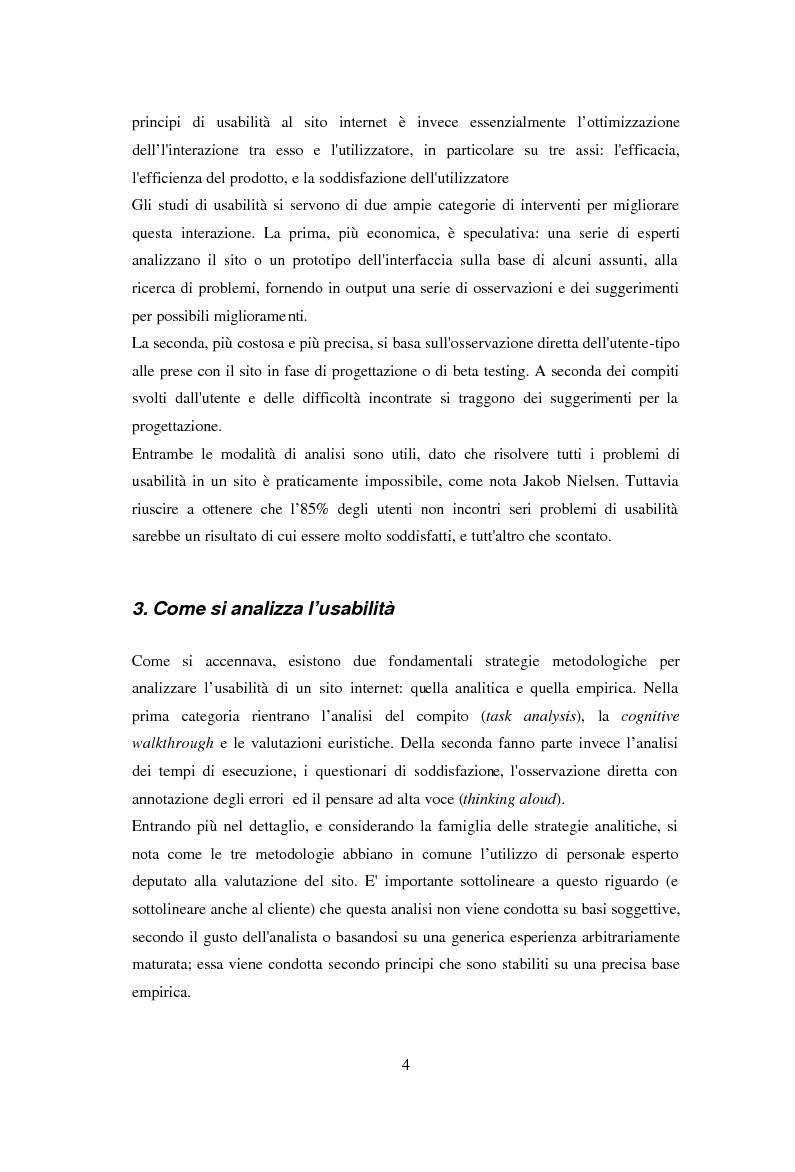 Anteprima della tesi: L'usabilità in Internet e i processi psicologici correlati, Pagina 6