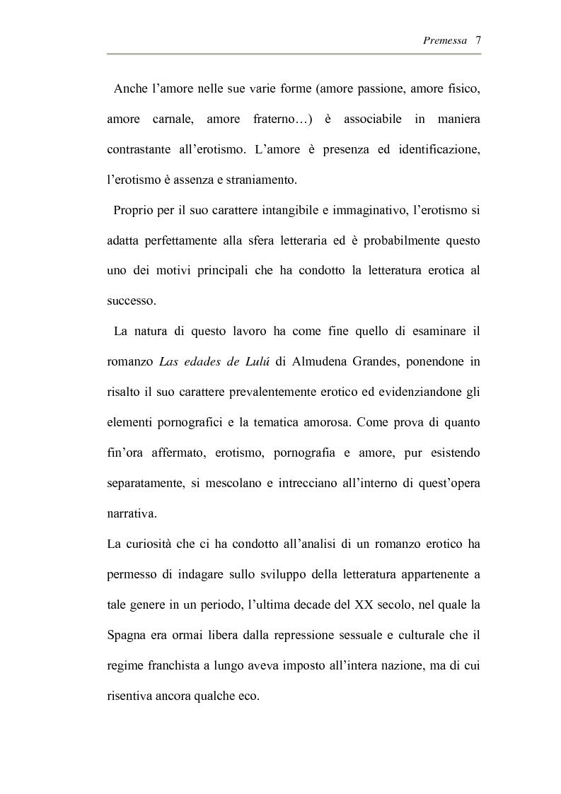 Anteprima della tesi: L'erotismo ne Las edades de Lulù di Almudena Grandes: storia di una regressione, Pagina 3