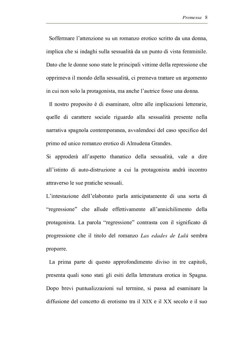 Anteprima della tesi: L'erotismo ne Las edades de Lulù di Almudena Grandes: storia di una regressione, Pagina 4
