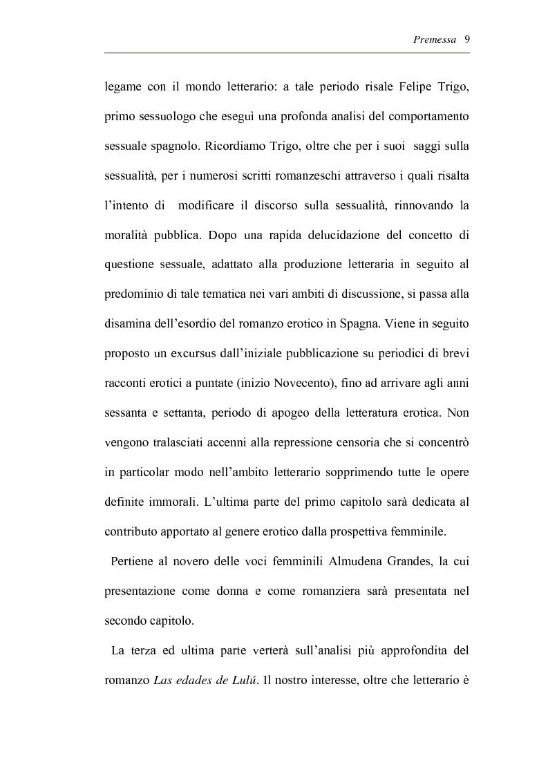 Anteprima della tesi: L'erotismo ne Las edades de Lulù di Almudena Grandes: storia di una regressione, Pagina 5