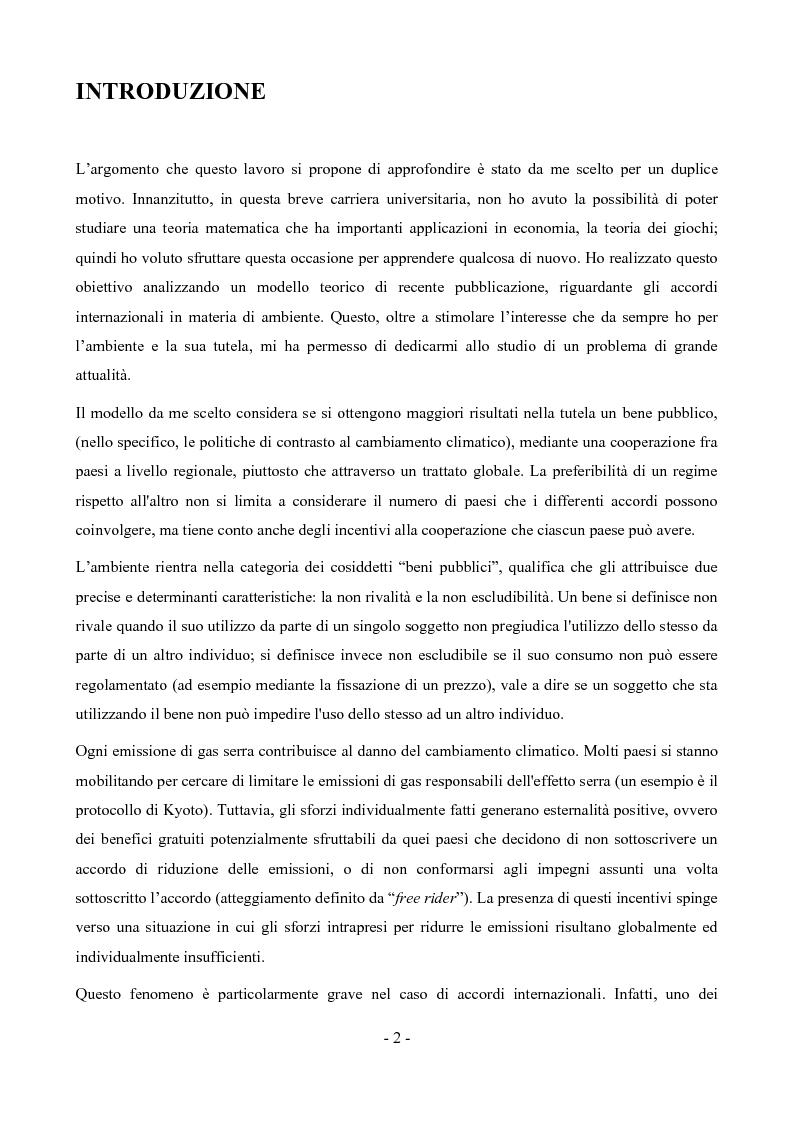 Anteprima della tesi: Un modello di analisi della partecipazione negli accordi cooperativi, Pagina 1