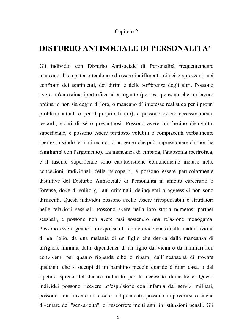 Anteprima della tesi: Disturbo Antisociale di Personalità: tra detenzione e tentativi di cura, Pagina 3