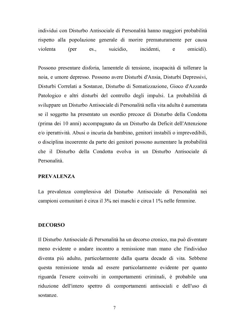 Anteprima della tesi: Disturbo Antisociale di Personalità: tra detenzione e tentativi di cura, Pagina 4