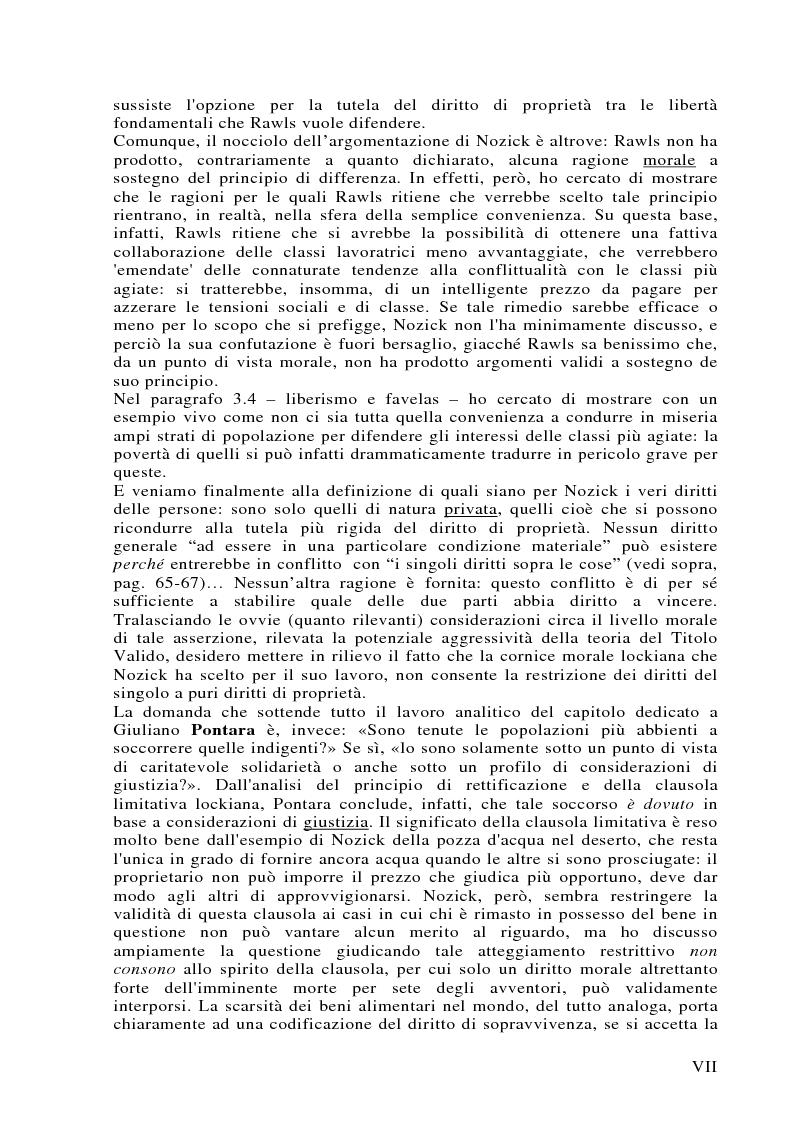 Anteprima della tesi: Può darsi un diritto di sopravvivenza? Giustizia e giusnaturalismo in alcune proposte di etica politica contemporanea: John Rawls, Robert Nozick, Giuliano Pontara, Pagina 7
