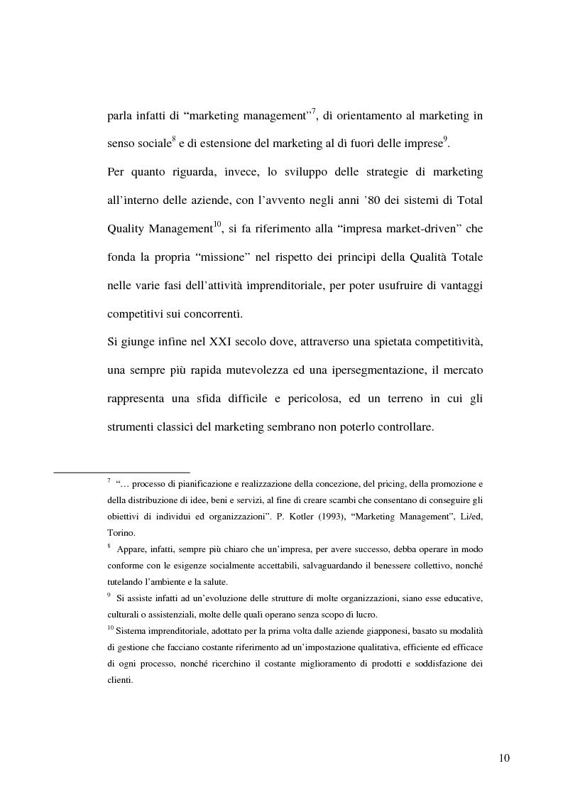 Anteprima della tesi: L'evoluzione del mercato dei prodotti alimentari: strategie di marketing delle imprese, Pagina 7