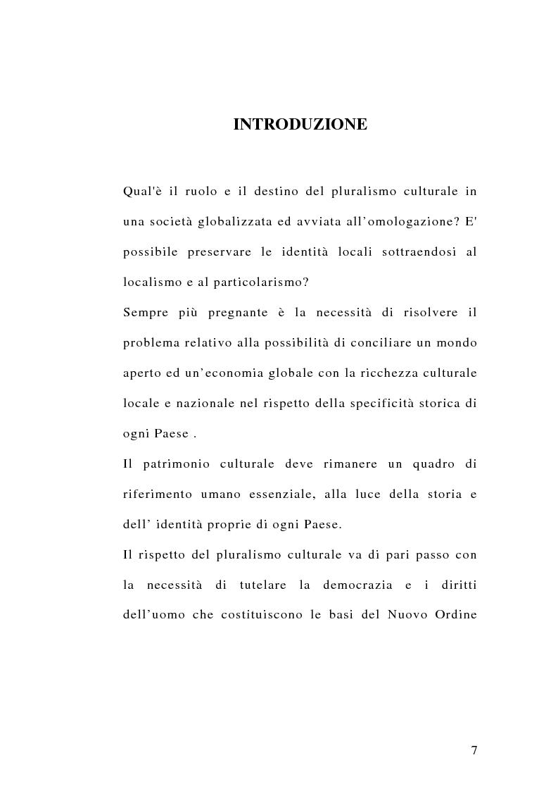 Anteprima della tesi: Diritti umani e multiculturalità nel villaggio globale, Pagina 1