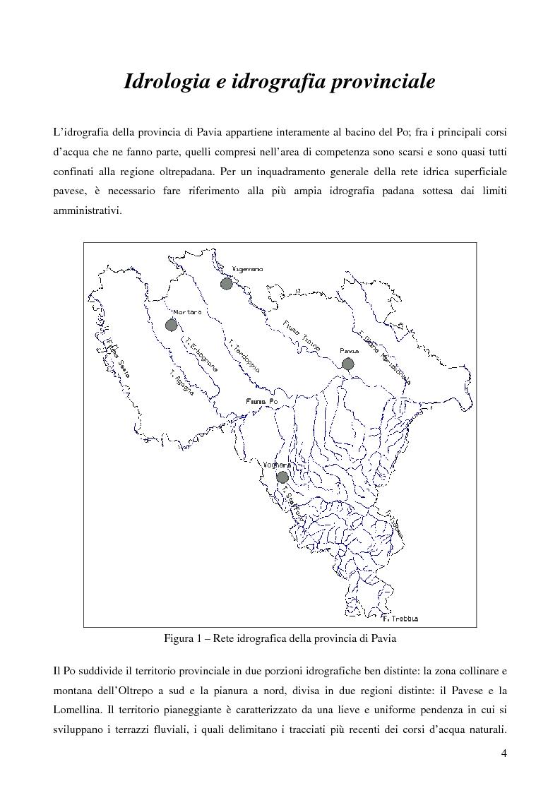 Anteprima della tesi: Ecologia delle comunità ittiche planiziali della provincia di Pavia, Pagina 2