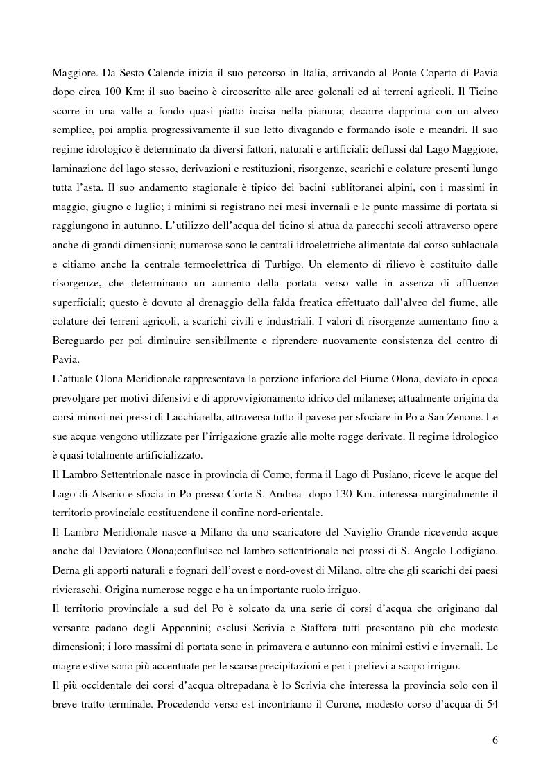 Anteprima della tesi: Ecologia delle comunità ittiche planiziali della provincia di Pavia, Pagina 4