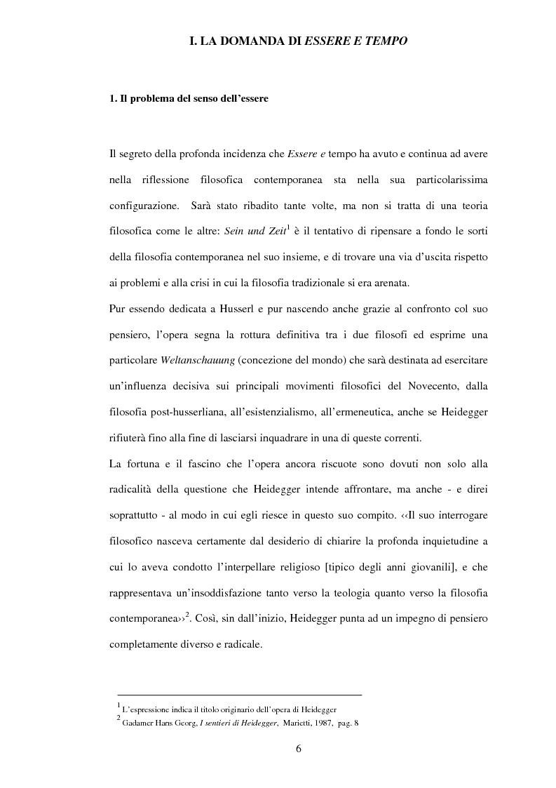 Anteprima della tesi: Esistenza, possibilità, vita inautentica in Essere e tempo, Pagina 4