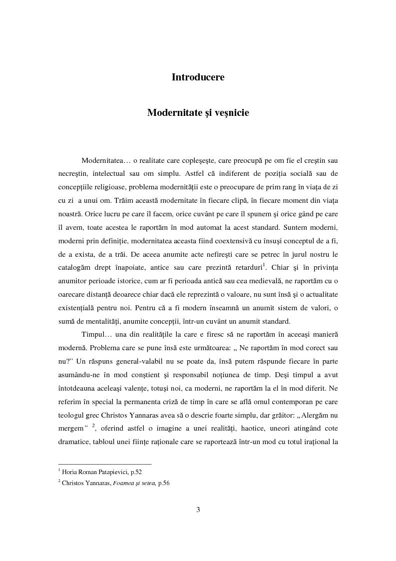 Anteprima della tesi: Premise asupra raportului dintre iubire si timp in teologia ortodoxa contemporana, Pagina 1
